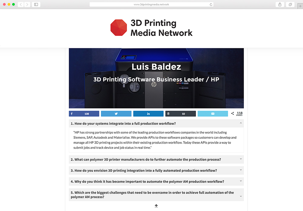 3D Printing Media Network website mockup