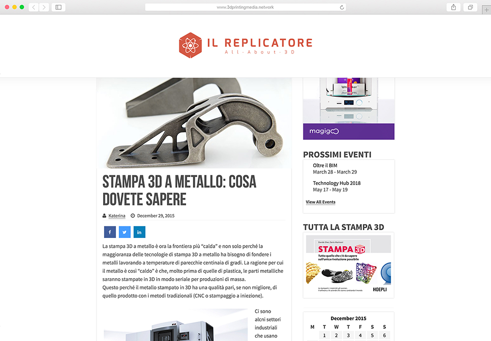 Il Replicatore website mockup